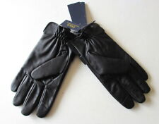 NEW Polo Ralph Lauren Men's Black Leather/Wool TOUCH SCREEN Gloves M L XL NWT