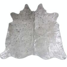 Premium quality brazil cowhide rug  silver acid wash