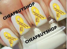 SUPPORT CHILDHOOD CANCER AWARENESS YELLOW RIBBON》Tattoo Nail Art Decals