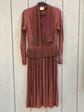 Vintage 1940's Nicholas Ungar Long Brown Dress Medium