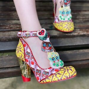 Irregular Choice Pride And Soy (A) Purple Sushi Themed High Heel Shoes