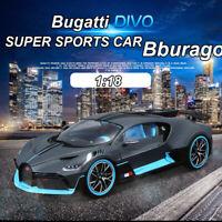New Bburago 1:18 Bugatti Divo SUPER SPORTS CAR Diecast Model Car Collection Toys