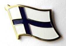 FINLAND FLAG LAPEL PIN BADGE 1 INCH