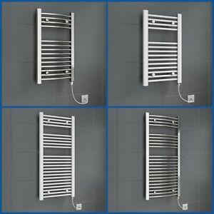 Chrome White Heated Towel Rail Radiator Straight Electric Bathroom Heating Rad
