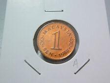 A: Malaysia 1 Sen coin (1988) - UNC Lustre