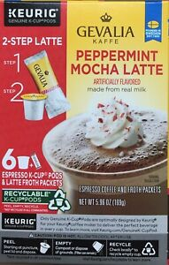 10 Boxes Keurig Gevalia K-cup Peppermint Mocha Espresso Latte Froth Packets 6/21
