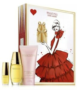 Estee Lauder Beautiful Favorites Trio Gift Set 1oz+.16oz EDP Body Lotion 2.5oz