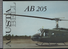 (192) Brochure hélicoptère Aircraft Helicopter Agusta Bell AB 205