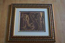 Pablo Picasso ~ Trois Femmes Linocut ~ 1st edition 1962 Framed Beautiful ~ COA