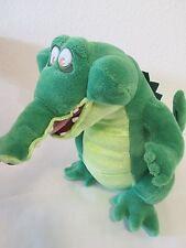 "Disney Store Plush Crocodile Alligator Peter Pan Jake Pirates 11"" Tall VGUC"