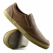 Mens Casual Smart Slip on Walking Moccasin Loafers Driving Deck Boat Shoes Size UK 11 Brown