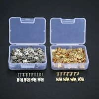 100pc Small Drawer Hinges Gift Jewelry Box Dollhouse Cabinet Door Hinge 8mm*10mm