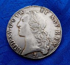 MONNAIE ROYALE  UN ECU  LOUIS XV 1760 P  DIJON EN ARGENT