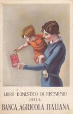 C2786) LIBRO DOMESTICO DEL RISPARMIO BANCA AGRICOLA ITALIANA, ILL. DUDOVICH.