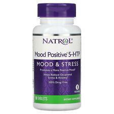 Natrol Mood Positive 5-HTP 50 Tablets Egg-Free, Fish Free, Gluten-Free,