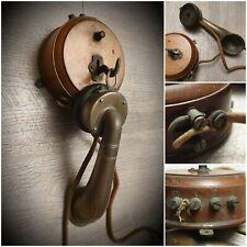telephone ancien de collection cornet /murale/BOIS