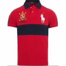 PREMIO Uomo Ralph Lauren Big Pony Custom Fit Red Classic Polo L T-Shirt £ 0.99