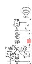 Genuine Hall Sensor With Fixing Parts VW AUDI Jetta Passat Quantum 034998065