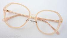 Size Vintage Glasses Frame Plastic Tender Apricot 70s Lightweight Feminine M