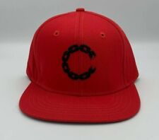Crooks and Castles Red Chain Snapback Hat Cap