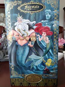 Disney Designer Fairytale Collection Ariel and King Triton Dolls LE 6000