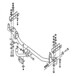 Oris Towbar for Volvo 850 Estate 1992-1997 - Fixed Swan Neck Tow Bar