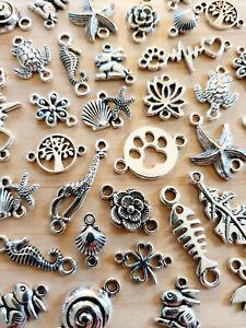 20 Teile Verbinderset zur Schmuckherstellung . Tiere Pflanzen Flora Fauna Motive