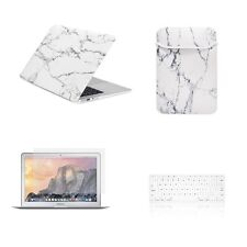 "4 IN 1 Macbook Air 11""Marble White Matte Case Cover + Keyboard Skin + LCD + Bag"