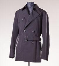 NWT $895 ALLEGRI Darker Gray Wind-Rain Repellent 3/4 Length Trench Coat 50/M