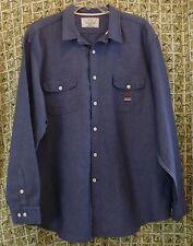 Nautica XXL Sea Voyage Linen & Cotton Men's Button Front Summer Blue Long Sleeve