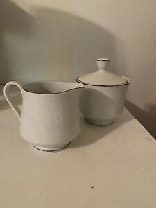 Crown Victoria Cream And Sugar Bowl W/Lid Lovelace Fine China Set Made In Japan