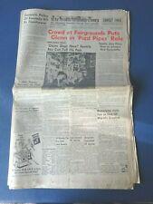 May 10, 1962 Seattle Daily Times. John Glenn at World's Fair