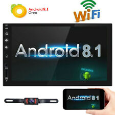 Backup Camera 7inch Android 8.1 Double 2 Din Car Radio Stereo Player WiFi SD GPS