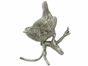 Antique Victorian Silver Bird Pepperette 1880s