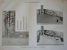 DESCRIPTION DE L'EGYPTE, (1825), ILE D'ELEPHANTINE, NILOMETRE...