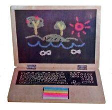 Children's Wooden Chalkboard Notebook Laptop Blackboard Toy with Chalk