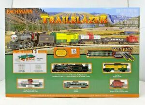 BACHMANN 24024 N SCALE TRAILBLAZER ELECTRIC 4-6-0 STEAM TRAIN SET LN CONDITION
