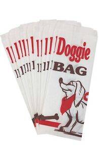 30 Dog Party Paper Sacks - Dog Treat Bags - Red Black White