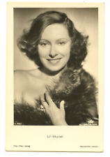1930s Glamor Lili Murati FUR STOLE BEAUTY German movie Film Star photo postcard
