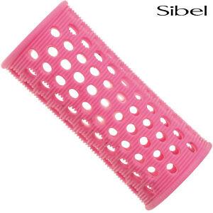 Sibel 10 x 28mm PINK Hair Setting Curl Rollers & Roller Pins Skelox Hair Curler