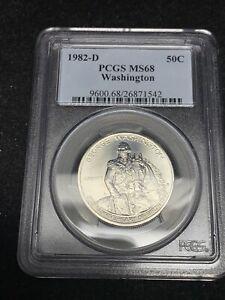 1982-D PCGS MS68 George Washington Commemorative Half Dollar Silver coin