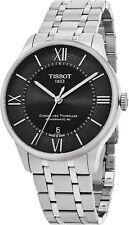 Tissot Men's Chemin Des Tourelles Black Dial Automatic Date Watch T0994071105800