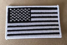 """🔥3.5""""Black and White USA AMERICAN FLAG Iron-on PATCH for Oakland Raiders Jersey"""