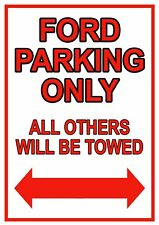 Ford parking only metal wall sign