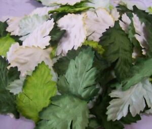 50x Mulberry Paper  Green Mix Leaves Craft flowers Paper crafts Embellishments