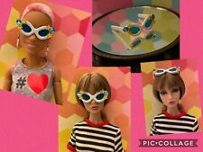 BARBIE,POPPY PARKER,Vamp Repro Cat Eyes sunglasses,custom/OOAK  (no dolls )