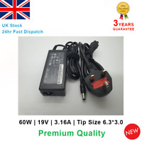 Laptop AC Adapter Charger For Acer 19V 3.16A 60W  AL1714 ViewSonic 6.3*3.0mm tip