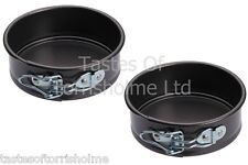 Set of 2 Kitchen Craft 11cm Mini Small Round Springform Non Stick Cake Tin