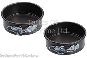 Set of 2 Kitchen Craft 11cm Mini Small Round Springform Non Stick Cake Tin