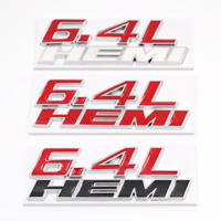 OEM 6.4L HEMI Liter Emblem Badge 3D Logo Decal Sticker Nameplate for Challenger